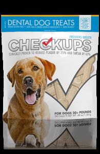 Checkup Treats bag front